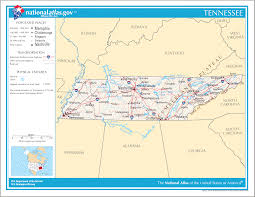 Tennessee State Map by Tennessee Maps
