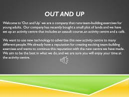 out and up welcome to out and up we are a company that runs team