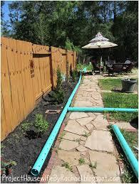 backyards chic french drain 140 simple backyard compact backyard