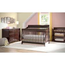 Baby Crib Mattress Support 4 In 1 Convertible Crib Chocolate Color Crib Converts To