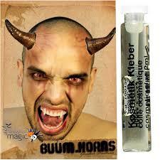 prosthetic halloween mask stick on latex devil demon satan fx horns halloween wound fancy