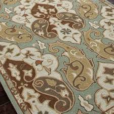 Jaipur Barcelona Indoor Outdoor Rug Rug Floral Blue Grey Gold Brown Indoor Outdoor Bali