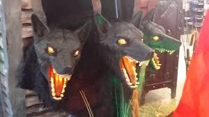 spirit halloween decorations spirit halloween 2015 cerberus 3 headed dog looks like werewolf