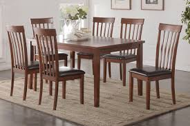 casual dining chairs poundex associates item f2280 7 pcs dining table set