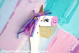 craft stick unicorn puppet kid craft glued to my crafts