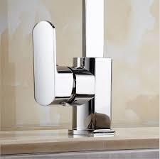 carré cuisine côté levier évier monté carré en laiton chrome col de cygne robinet