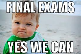 Final Exam Meme - final exams info and check outs jetstream