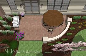Patio Designs With Concrete Pavers Small Concrete Paver Patio Design With Seat Wall 315 Sq Ft