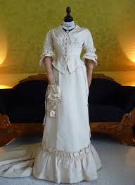 wedding dress ca 1875 www antique gown com