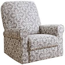 furniture charming patterned recliner for your living room design