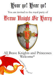 diy knights and princesses party invitations and arrows