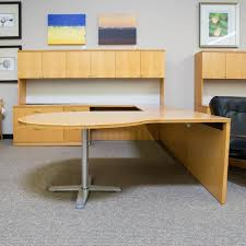 U Shaped Office Desk Used Left D Top U Shaped Office Desk With Large Hutch Maple