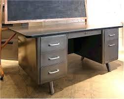 Small Tanker Desk Desk Steel Desk For Sale Exposed Metal For Vintage