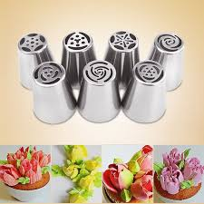 cake decorating ezlife 7pcs russian piping tips cake pastry nozzles cake