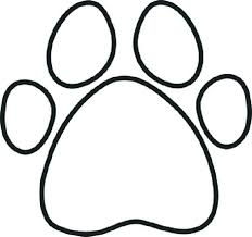 coloring page tiger paw paw print coloring sheet paw print coloring page library coloring
