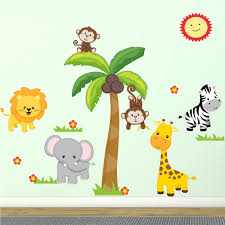 Animal Wall Decals For Nursery by Wall Decal Design Large Jungle Theme Wall Decals Safari In