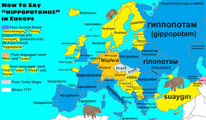 how do you say map in how to say hippopotamus in different european languages maps