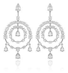 chandelier diamonds diamond chandelier earring in platinum élégance hammerman
