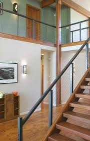 cable stair railings interior and loft railing steel design inc