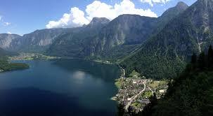 scenic lookout hallstatt austria oc europe