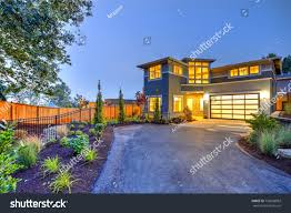 modern prairie style homes beautiful curb appeal modern craftsman style stock photo 756928003