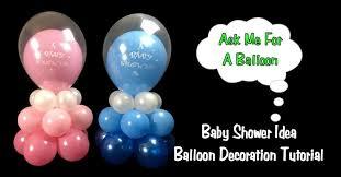 baby shower balloon decoration idea balloon centerpiece tutorial