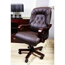 fauteuil bureau cuir bois achat fauteuil de bureau de direction en bois egon se rapportant à