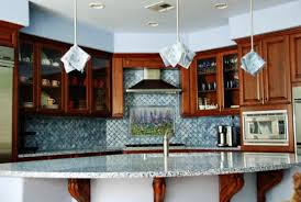 blue kitchen backsplash blue lavender backsplash