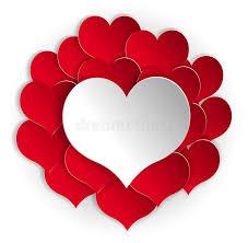 le coeur blanc fond de papier de coeurs avec le coeur blanc illustration de