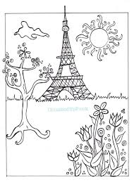 paris illustration pdf coloring page paris in spring city