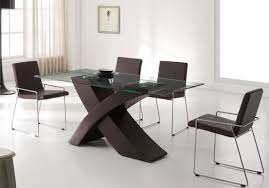 Modern Leather Dining Chairs Dining Room Modern Leather Brown Contemporary Dining Chairs