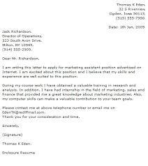 marketing cover letter marketing cover letter cover letter
