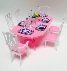 barbie dining room set amazon com barbie size dollhouse furniture gloria dining room