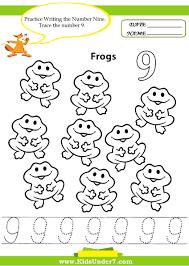 7 best images of 9 free printable number worksheets free