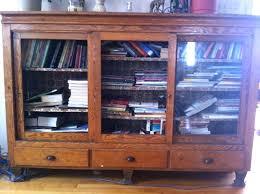 Antique Oak Bookcase With Glass Doors Oak Bookshelves With Glass Doors 2 Oak Antique Lawyer Glass Front