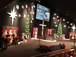 foamy christmas church stage design ideas
