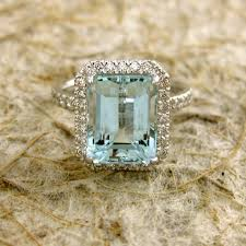 light blue sapphire engagement rings sky blue green aquamarine engagement ring in k ringscollection