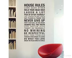 Family House Rules Rules Quotes Wall Decal Family Vinyl Art Stickers