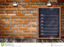 weekly chalkboard calendar blackboard sign menu for office