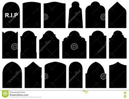 illustration of different halloween gravestones stock vector