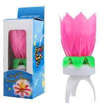 spinning birthday candle magic spinning and singing louts flower birthday candle from