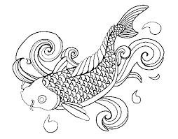 image koi fish coloring pages games png naruto fanon central