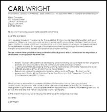 environmental trainee cover letter