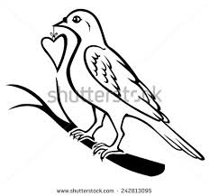 lovebirds parrot couple beak coloring vector stock vector