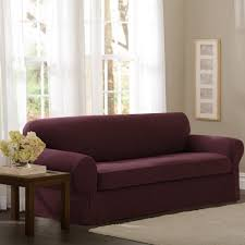 No Sew Slipcover For Sofa by Amazon Com Maytex Pixel Stretch 2 Piece Slipcover Sofa Wine