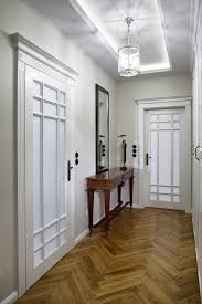 remarkable hallway wooden floor ideas using herringbone pattern