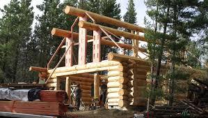 log house log house assembly time lapse lake ohau new zealand youtube