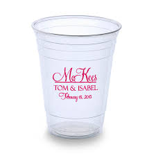 clear plastic cups for wedding dining room clear personalized plastic cups with pink letter for