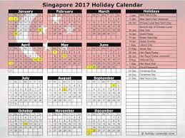 Kalender 2018 Hari Raya Puasa Singapore 2017 2018 Calendar