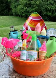 ideas for gift baskets summer party gift basket oh my creative